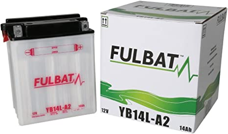 mm 89 x Hauteur 134 x Largeur Batterie FULBAT YB14L-A2 12V 14Ah 190A Longueur 166