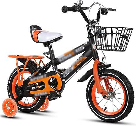 JianMeiHome Bicicleta para niños Bicicleta para niños de 2 a 8 años para Hombres y Mujeres Bicicleta para niños de 12 a 16-18 Pulgadas con estabilizadores: Amazon.es: Deportes y aire libre