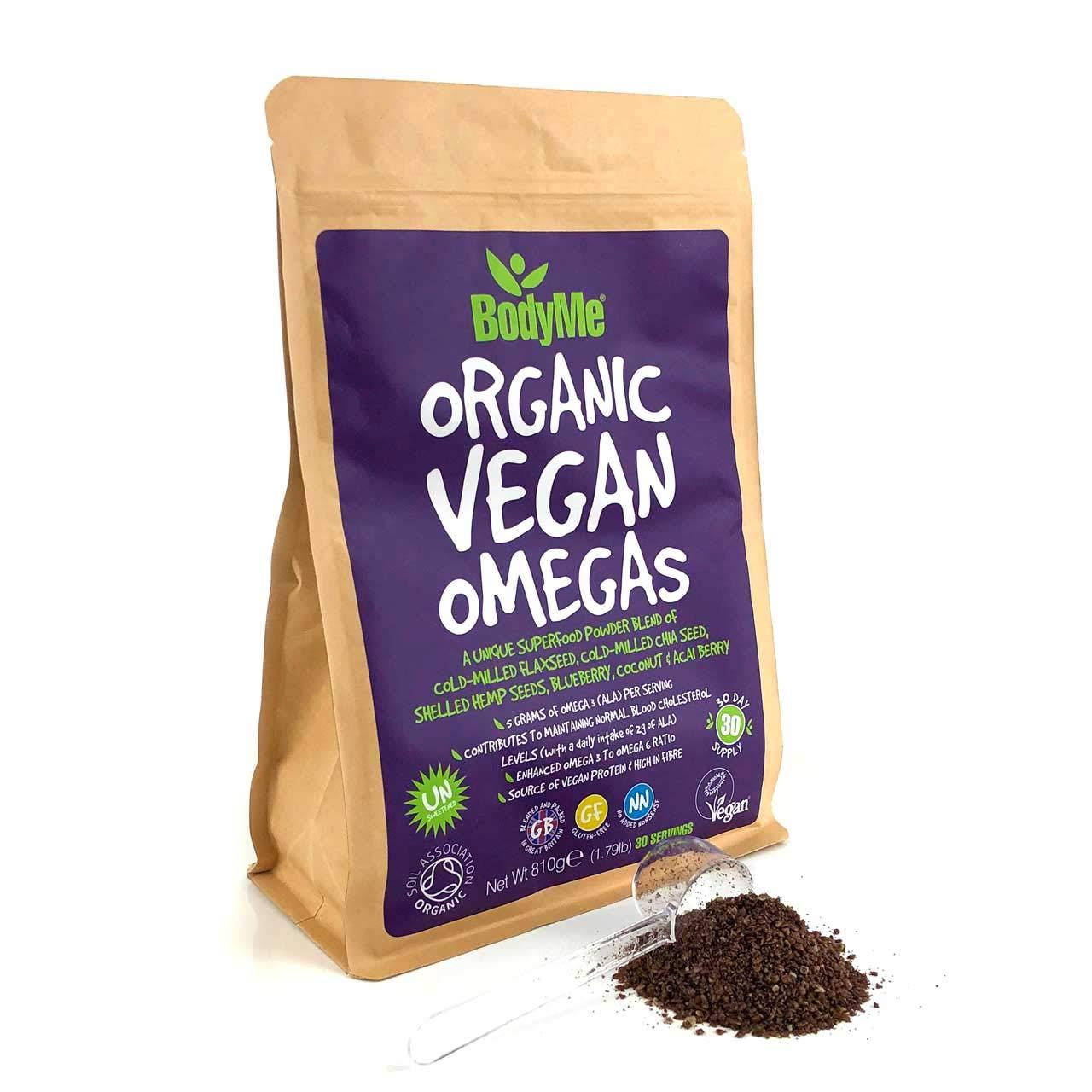 BodyMe Orgánico Vegano Omegas Polvo | 810g | Vegan Omega 3 6 ...