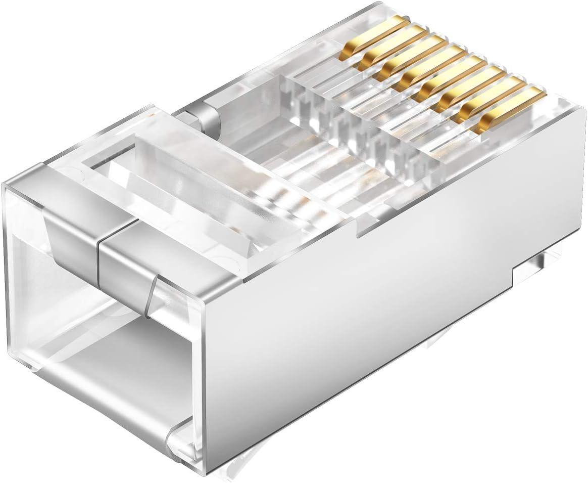 RJ45 Boot Caps 8P8C Plug Protective Case For Cat5 5e Cat6a Cat7 RJ 45 Network Ethernet Cable PVC Boots Sheath Protective Sleeve Lysee Plug /& Connectors Color: Gray, Bundle: 50pcs