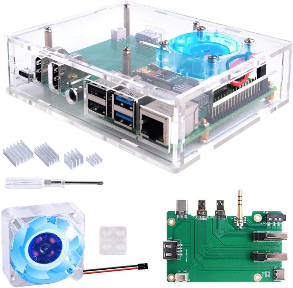 Geeekpi Acryl Raspberry Pi Set Top Box Kit Raspberry Computer Zubehör