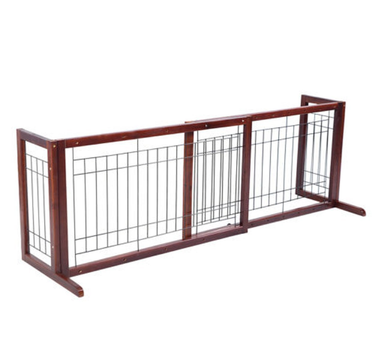 Gate Dog Wood Door Paw Wide Tall Adjustable Indoor Solid Construction Pet by SisterYou (Image #3)