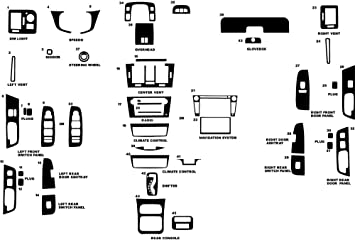 Brushed Black Rvinyl Rdash Dash Kit Decal Trim for Cadillac CTS 2008-2013 Aluminum