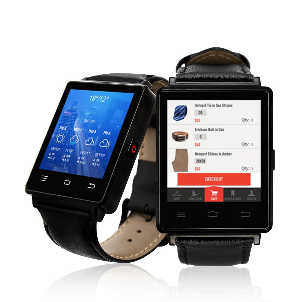 Indigi Professional 3G SmartWatch Phone (GSM unlocked) Android 5.1 WiFi + GPS + Heart Rate Sensor