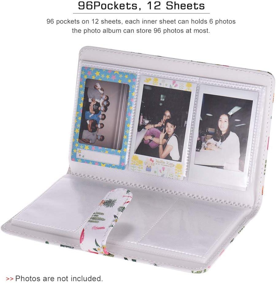 TOPTOO Album Photo 96 Pochettes Album Photo pour Fujifilm Instax Mini 9 8 7s 70 25 50 90 Films Couleur pour Appareil Photo Photo pour Carte de Visite Carte de cr/édit