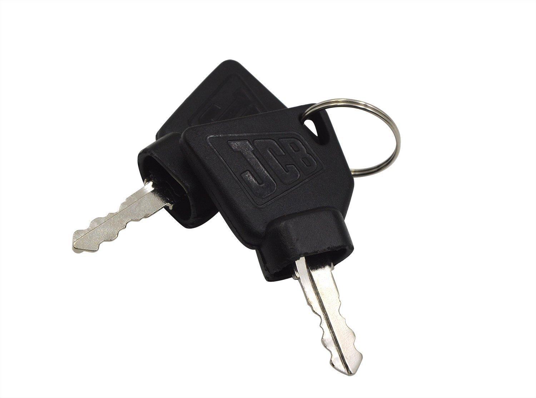 Qtmy, chiavi per accensione macchinari per attrezzatura pesante JCB, confezione da 2