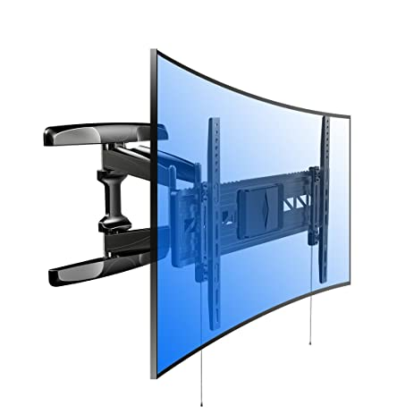 Loctek R2 both Curved and Flat TV Wall Mount Bracket for most of 32-70