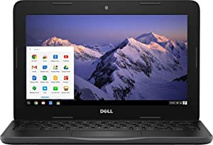 "Dell Inspiron 11.6"" HD Chromebook, Intel Dual-Core Celeron N3060 up to 2.48GHz, 4GB RAM, HDMI, USB 3.0, Bluetooth, 802.11ac, HD Webcam, Chrome OS - Black (32GB eMMC)"