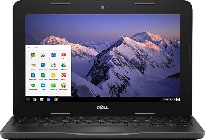 """Dell Inspiron 11.6"""" HD Chromebook, Intel Dual-Core Celeron N3060 up to 2.48GHz, 4GB RAM, HDMI, USB 3.0, Bluetooth, 802.11ac, HD Webcam, Chrome OS - Black (32GB eMMC)"""