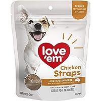 Love Em Chicken Straps Dog Treats, 150 Grams