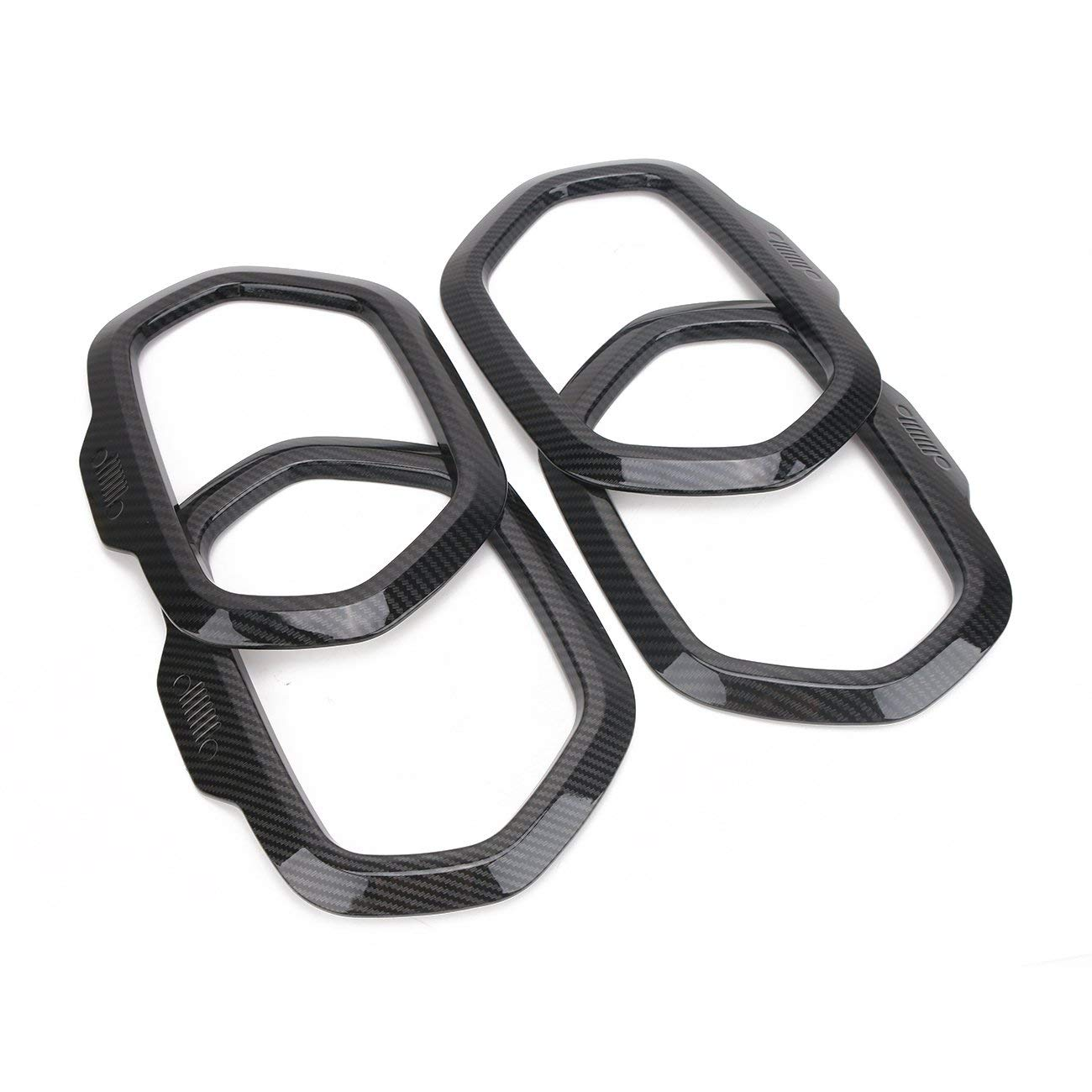 Door Speaker Horn Frame Covers Trims For Jeep Renegade 2015-2017 - Carbon Black LYNOON