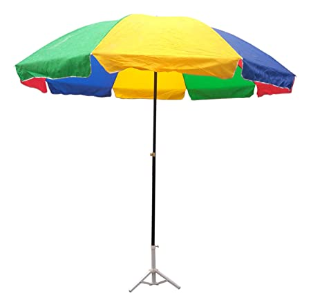 Lords Multi Color Garden Umbrella 8 Ft Dia Heavy Duty With Thick Water Proof Fabric