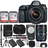 Canon EOS 6D Mark II DSLR Full Frame Camera + EF 24-105mm f/4L IS II USM Lens + Canon Battery LP-E6N + Canon RC-6 Wireless Remote + Vivitar Gadget Bag + 72 Monopod + Quality Tripod – Deluxe Bundle