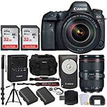 CANON EOS 6D MARK II DSLR Camera Kit with Canon EF 24-105mm F/4L IS II USM Lens + DSLR Professional Accessory Bundle - Including EVERYTHING You Need To Go Pro