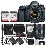 Cheap Canon EOS 6D Mark II DSLR Full Frame Camera + EF 24-105mm f/4L is II USM Lens + Canon Battery LP-E6N + Canon RC-6 Wireless Remote + Vivitar Gadget Bag + 72″ Monopod + Quality Tripod – Deluxe Bundle