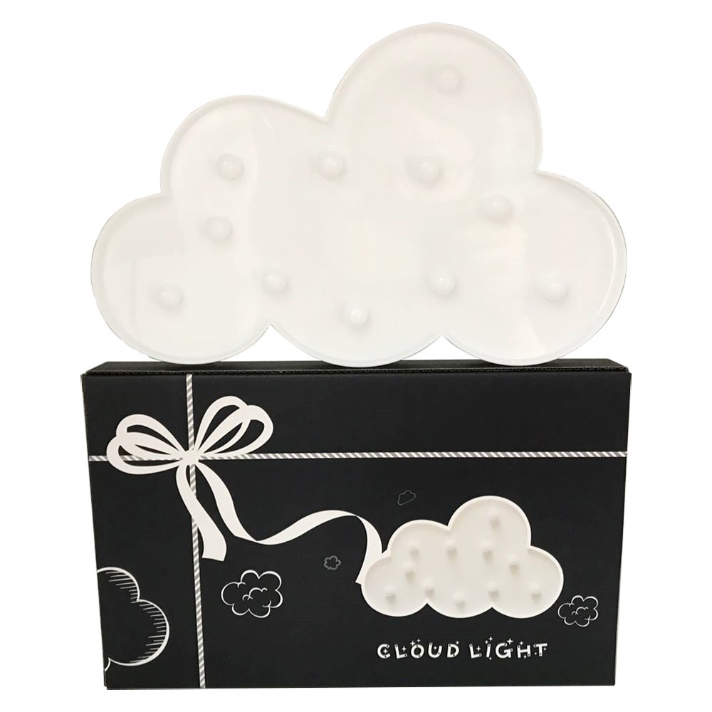 3D Cloud Marquee Light, Lighted Marquee Sign Lamp for Home, Restaurant, Hotel, Coffee Shop, Birthday and Romance Gift, Cute Decoration(White, Battery Operated) (cloud white)
