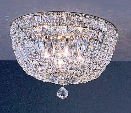 Classic Lighting 53412 G SC Empress, Crystal, Flush/Semi-Flush, 24k Gold Plate