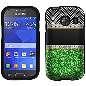 Samsung Galaxy Ace Style Glitter Green with Diamonds Case
