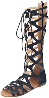❤️ Sunbona On Sale Women Gladiator Sandals Ladies Summer Open Toe Casual Flats Knee High Boots Roma Shoes Beach Slippers
