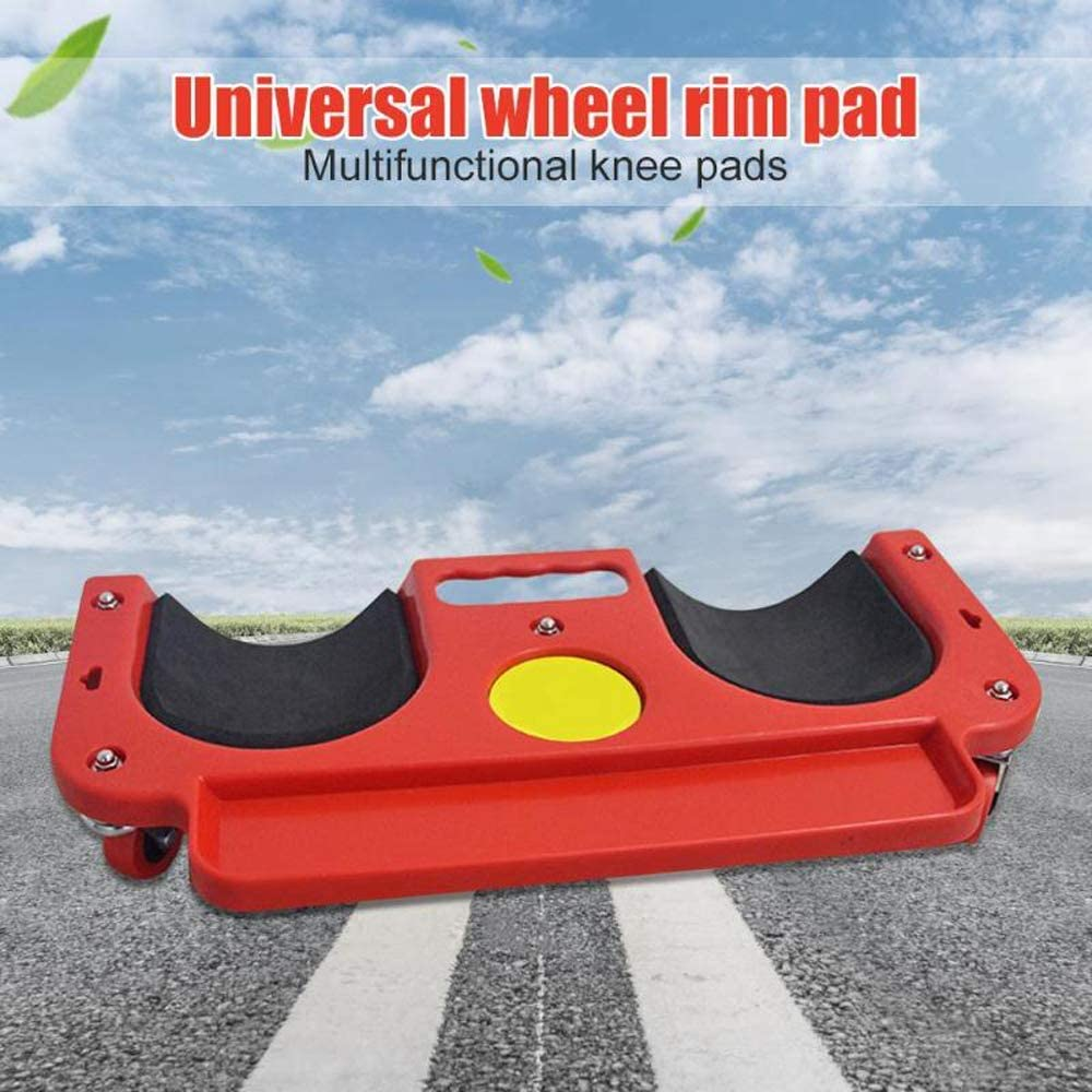 Rolling Knee Pad Wheel Protection Creeper Kneeling Padded Laying Swiver Flexible