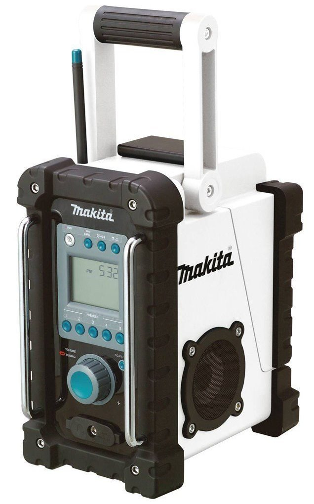 2 Pack Makita XRM02W 18 Volt Compact Lithium-Ion Cordless Job Site Radio (Tool Only)
