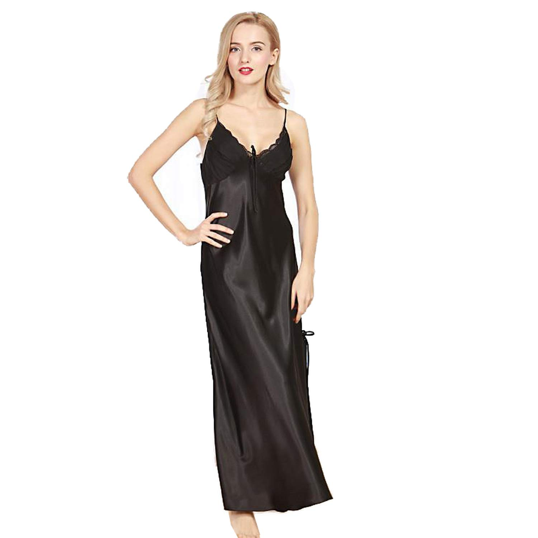baqijian Women Night Dress Nightgown Satin Nightdress Night ...