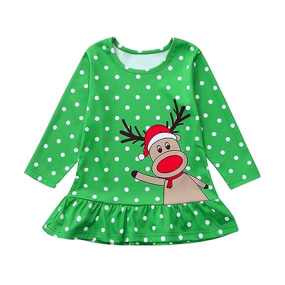 Disfraz Navidad Vestido para Bebe Niñas 6 Meses-4 años Invierno 2018 Moda  PAOLIAN Vestido 0a7823740e0b