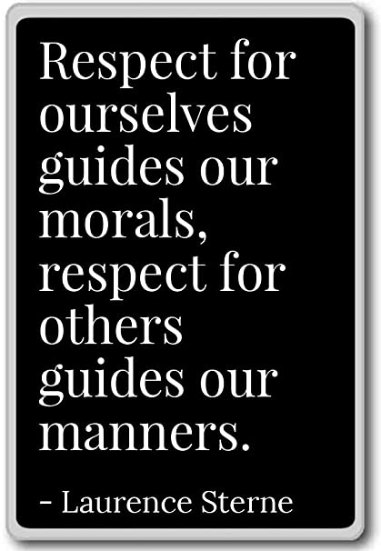 Amazoncom Respect For Ourselves Guides Our Morals Re