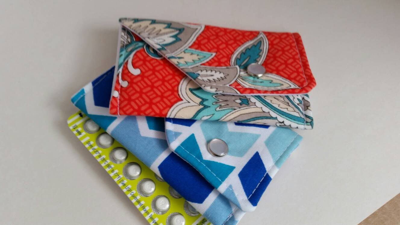 Birth Control Case with Snap Closure- New fabrics
