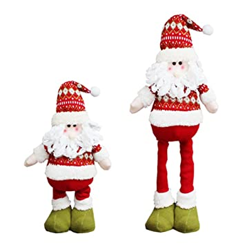 christmas santa claus plush toy stretchable leg doll ornaments maiyu christmas home party table decorations - Amazon Christmas Home Decor