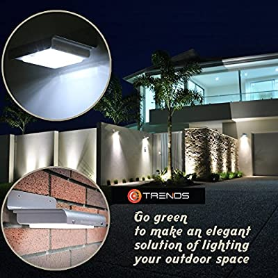 Solar LED Light, E-TRENDS (TM) 16 Bright LED Wireless Solar Powered Motion Sensor Light (Weatherproof, no batteries required), Eco-friendly.