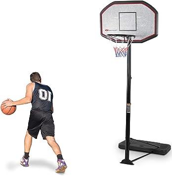 Costway Panier De Basket Sur Pied Avec Un Poteau Ajustable Et Un Panneau Arrière Pour Extérieur Ou Intérieur Amazon Fr Sports Et Loisirs