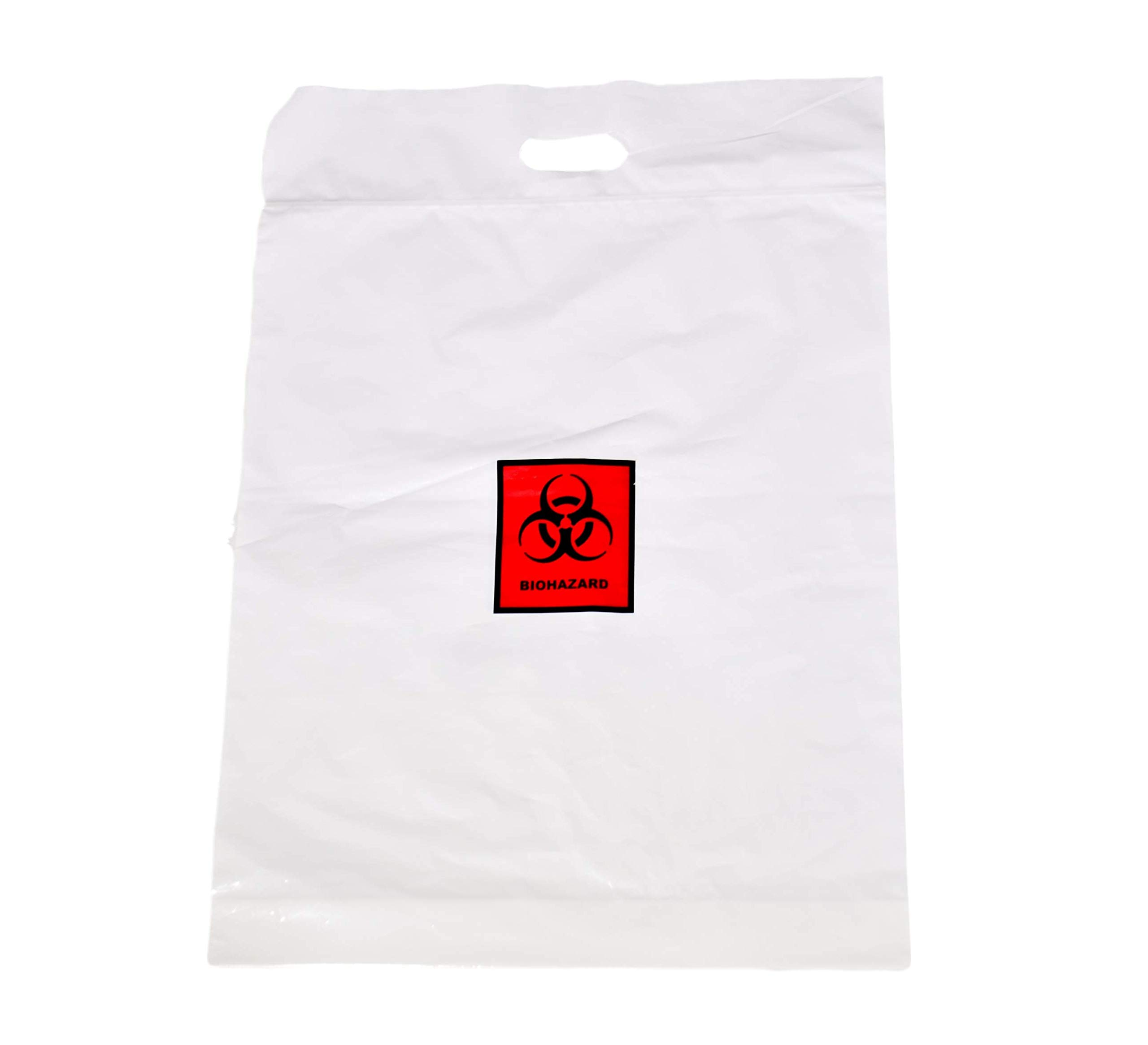 Zip Lock Bio-Hazard Bag w/Handle, 17'' x 15 1/2'' - ASP Medical