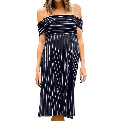 Vectry Ropa de Mujer Embarazada Vestidos de Premama para Fiesta Moda Mujer 2019 Rebajas Vestidos Vestidos Casual de Mujer Primavera Vestidos Elegantes Vestido: Ropa y accesorios