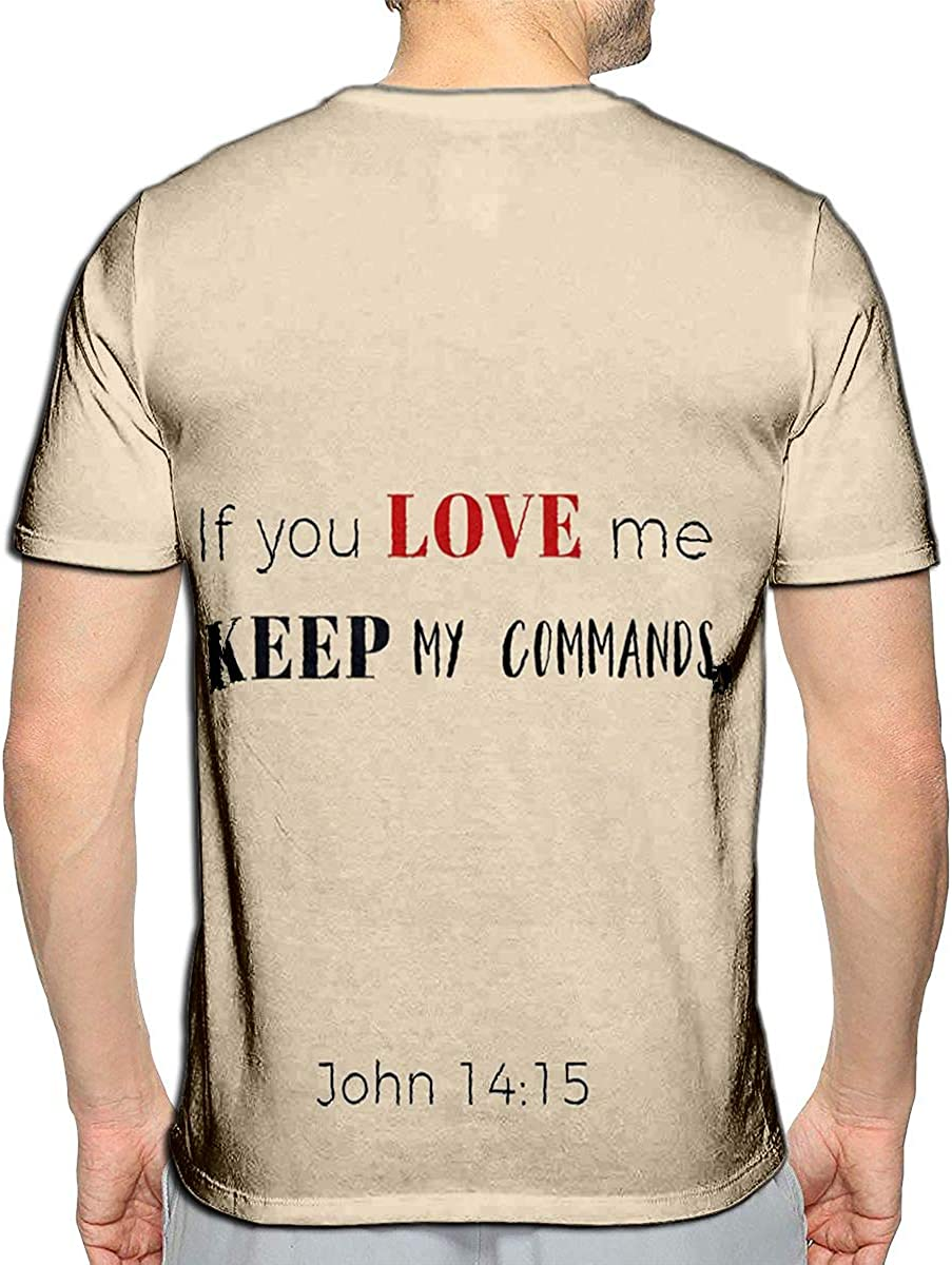 3D Printed T-Shirts John If You Love Me Keep My Commands Short Sleeve Tops Tees