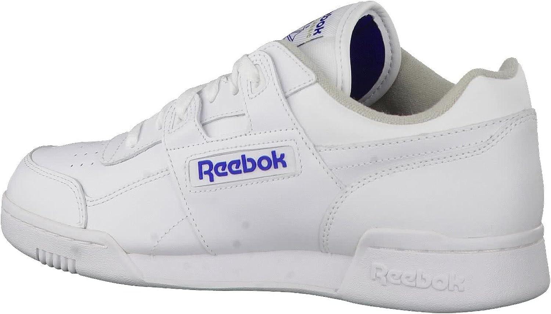 Reebok Workout Plus, Scarpe da Ginnastica Uomo Bianco Wht Royal 000