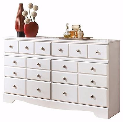 Bon Ashley Furniture Signature Design   Weeki Dresser   6 Drawers   Classic  Contemporary   White