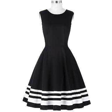 Elegant Black Sexy Evening Dress Vestido Sleeveless Robe Retro Rockabilly 1950s 60s Vintage Dress,168