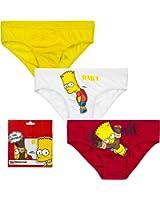The Simpsons enfants slips dans le lot de 3double taille 110à 140