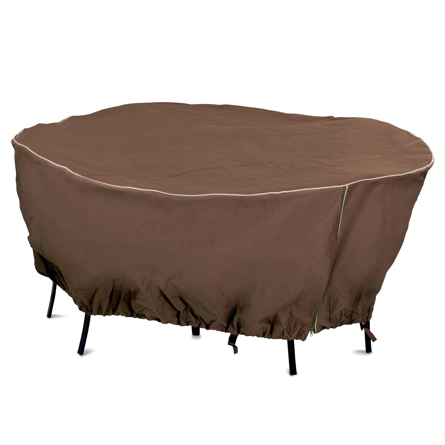 Armor All 80 x 30 Round Table Cover, Brown
