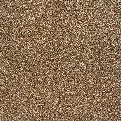(All American Carpet Tiles Wellington 23.5 x 23.5 Plush Easy to Install Do It Yourself Peel and Stick Carpet Tile Squares - 9 Tiles Per Carton - 34.52 Square Feet Per Carton (Sable))