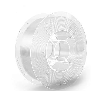SainSmart PRO-3 Tangle-Free Premium 1.75mm PETG 3D Printer Filament, Clear PETG, 2.2 LBS (1KG) Spool, Dimensional Accuracy +/- 0.02mm