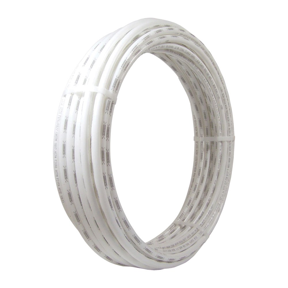 SharkBite PEX Pipe Tubing 3/8 Inch, White, Flexible Water Tube, Potable Water, U855W50, 50 Foot Coil