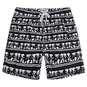 MaaMgic Mens Quick Dry Tropical Swim Trunks With Mesh Lining Swimwear Bathing Suits