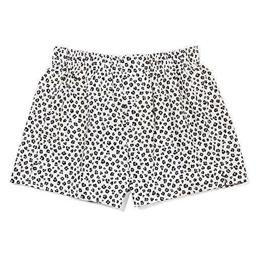 DRUTHERS The Perfect Tailored Mens Leopard Print Boxer Shorts/Organic Cotton/Made in USA (Medium, Leopard)