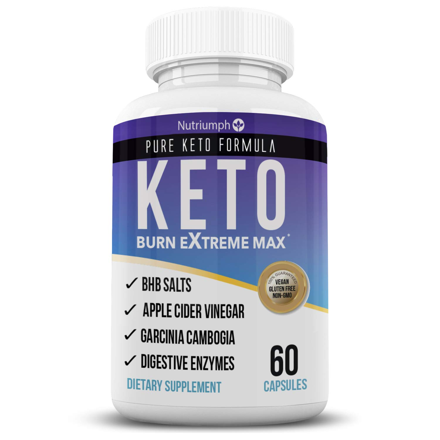 Keto Burn Extreme Max Fat Burner Diet Pills- Ketogenic Weight Loss for Women and Men- Ketosis Supplement with BHB Salts & Apple Cider Vinegar- 30 Day Supply by Nutriumph