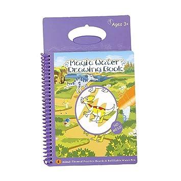 pawaca Magic Wasser Zeichnen Buch, wiederverwendbar Malen Animal ...