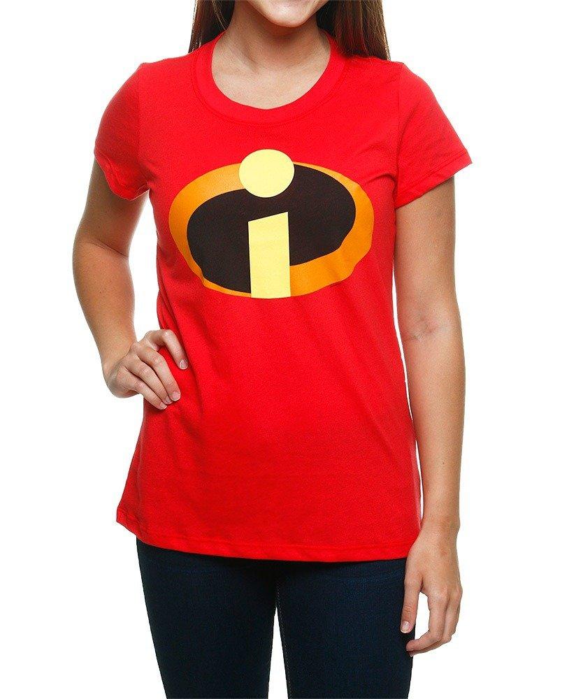 Disney Incredibles Logo Juniors T-shirt (Medium, Red)