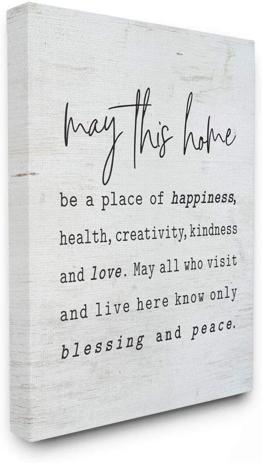 Stupell Industries May This Home Family Inspirational Word On Wood Texture Design Canvas Wall Art, 24 x 30, Multi-Color
