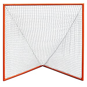 CrankShooter High School Practice Lacrosse Goal with 6mm White Net and Lacing Rails for High School Level Lacrosse Practice